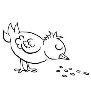 Bird eating clipart black and white clip library download Black And White Bird Eating Seed Vector | SOIDERGI clip library download