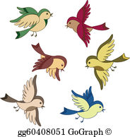 Flying bird clipart. Clip art royalty free