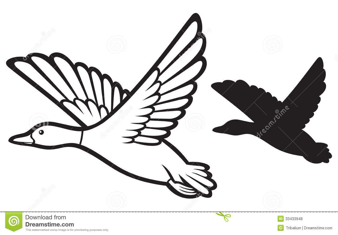 Flying Duck Clipart Black And White | Clipart Panda - Free Clipart ... clip art freeuse download
