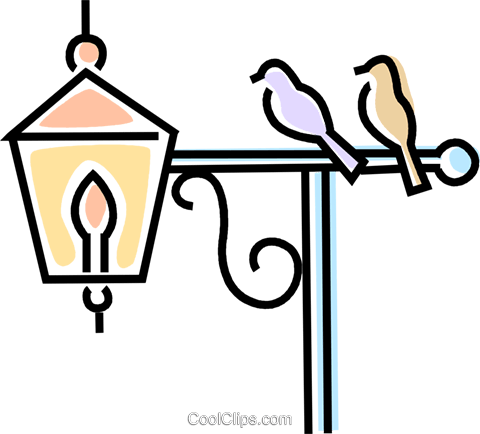 birds on a lamp post Royalty Free Vector Clip Art illustration ... vector free download