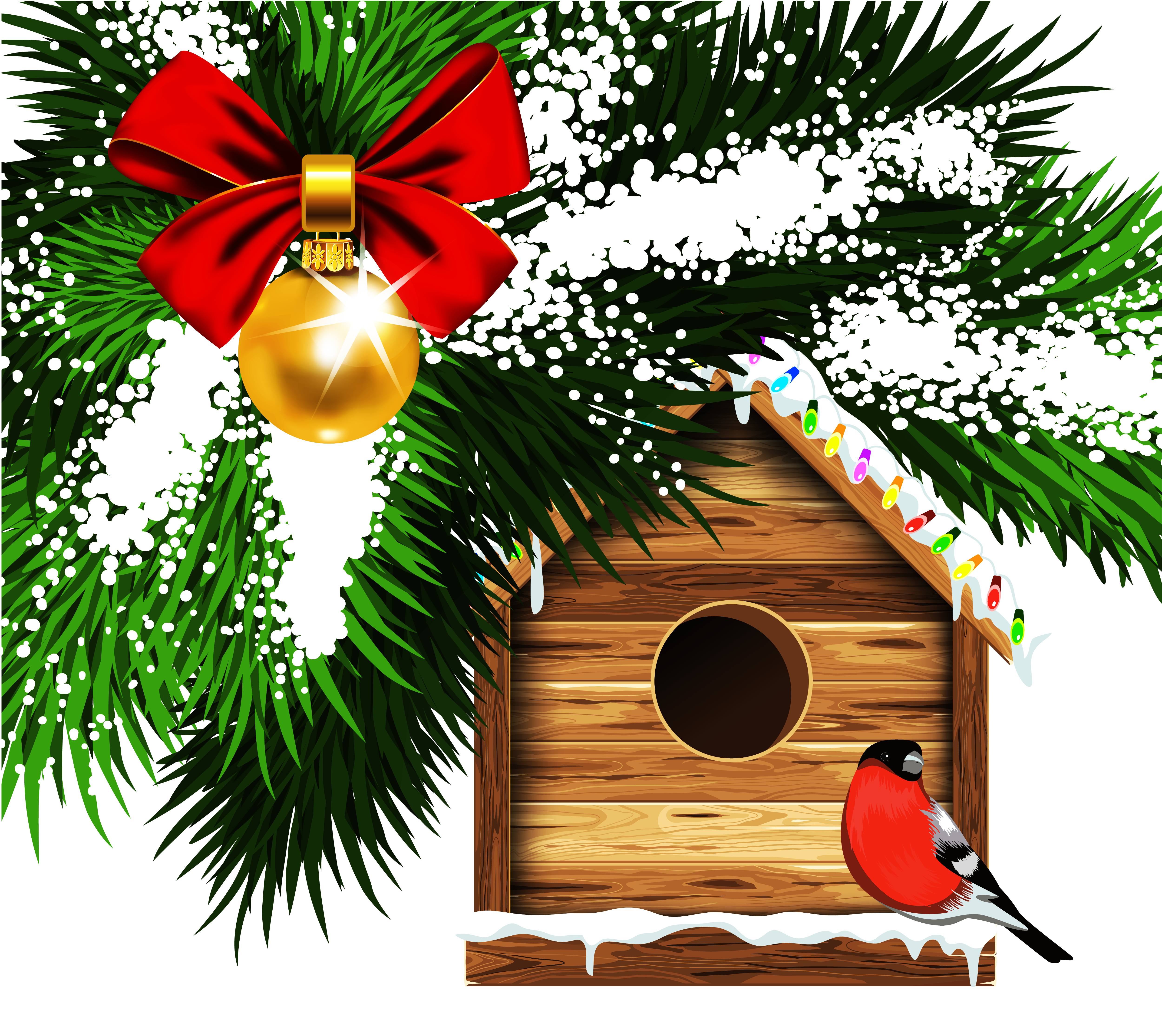 Bird house clipart clip stock Transparent Christmas Bird House PNG Clipart | Gallery Yopriceville ... clip stock