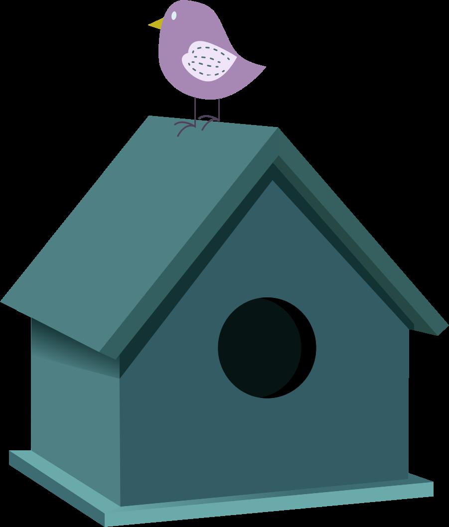 Bird house clipart vector transparent stock Clipart - Bird house vector transparent stock