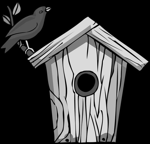 Bird house clipart clip free Bird House Clipart - ClipartBlack.com clip free
