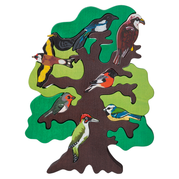 Bird tree clipart image royalty free European Bird Tree Puzzle – Manine Montessori image royalty free