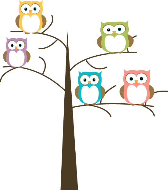 Clipart smart owl colored book stock Owl in Tree Clip Art | Owls in a Tree Clip Art Image - pretty owls ... stock