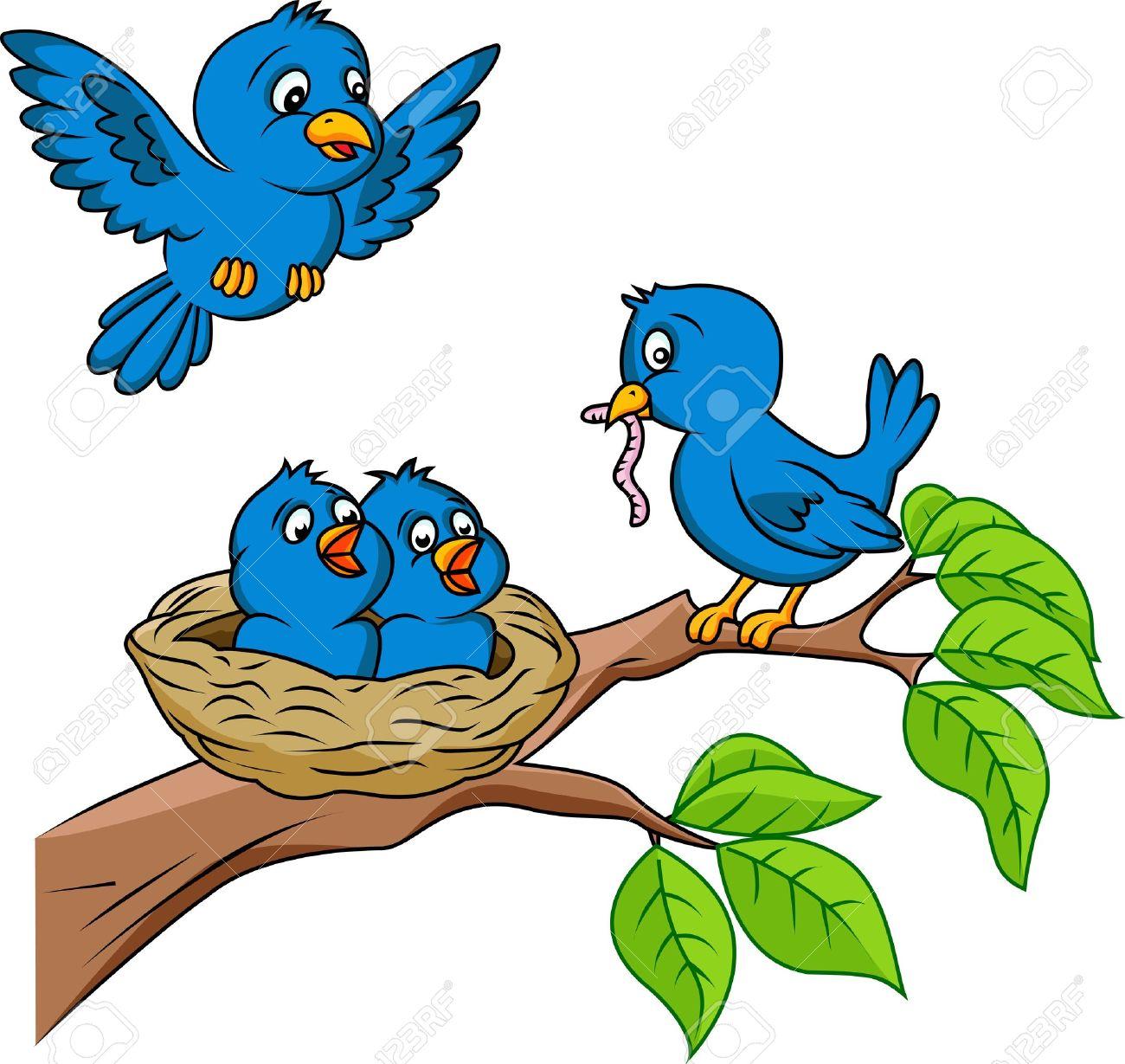 Bird Nest Cartoon | Free download best Bird Nest Cartoon on ... clipart library download