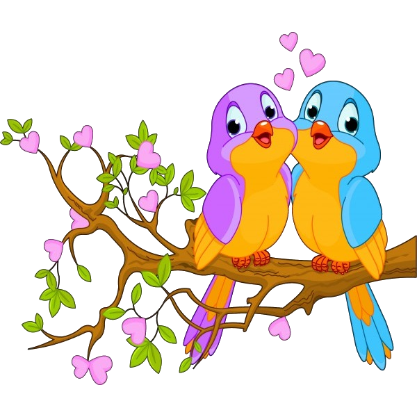 Love birds in a tree clipart graphic library download Cute Love Birds Cartoon Clip Art Images.All Bird Images Are Free For ... graphic library download