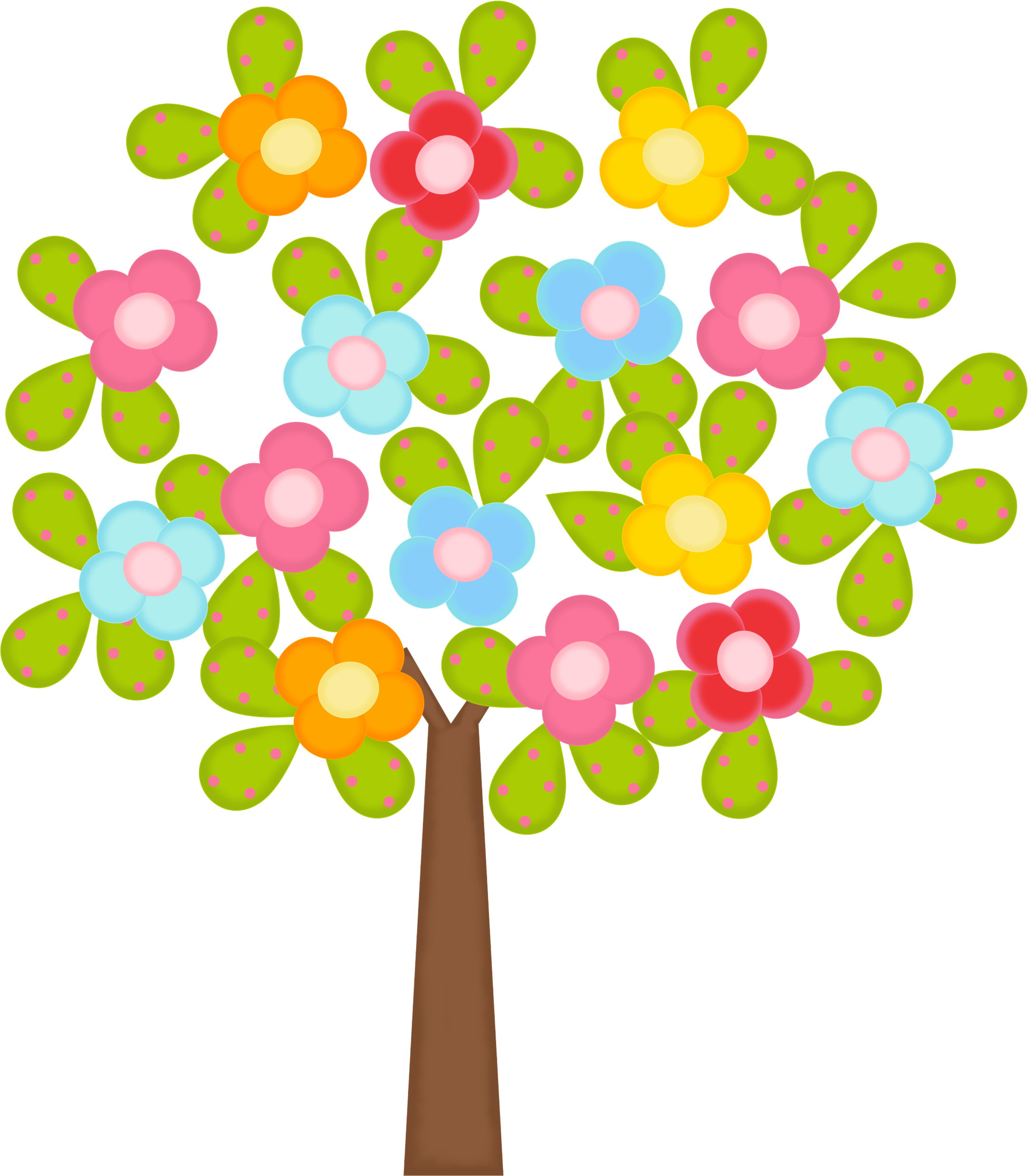 Tree with flowers clipart png free download Photo by @daniellemoraesfalcao - Minus | Adibujos cute | Pinterest ... png free download