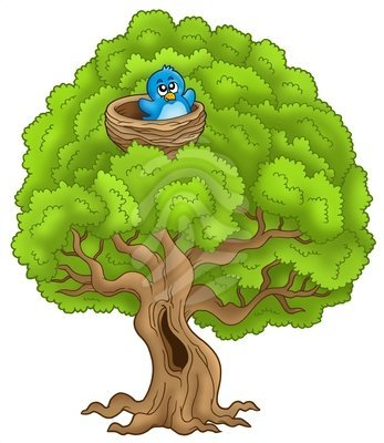 Bird on a tree clipart clipart freeuse Bird in the tree clipart » Clipart Portal clipart freeuse