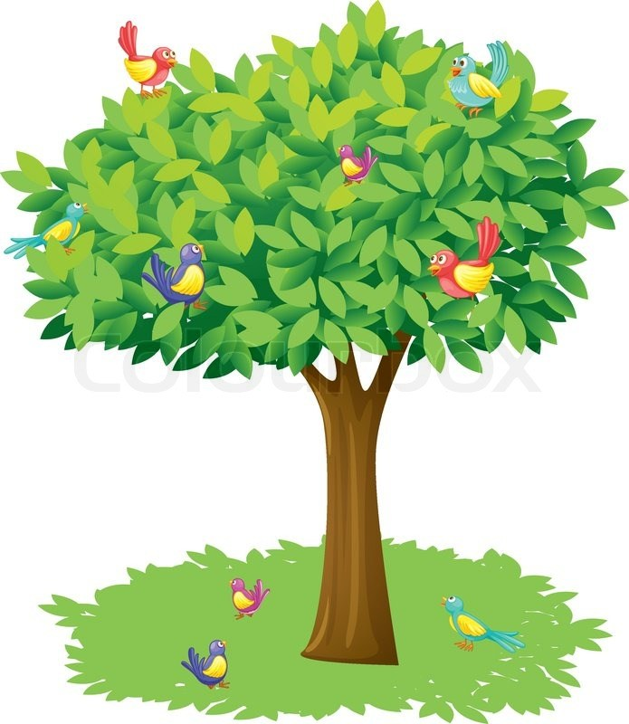 Bird on a tree clipart banner freeuse Bird above the tree clipart 6 » Clipart Portal banner freeuse