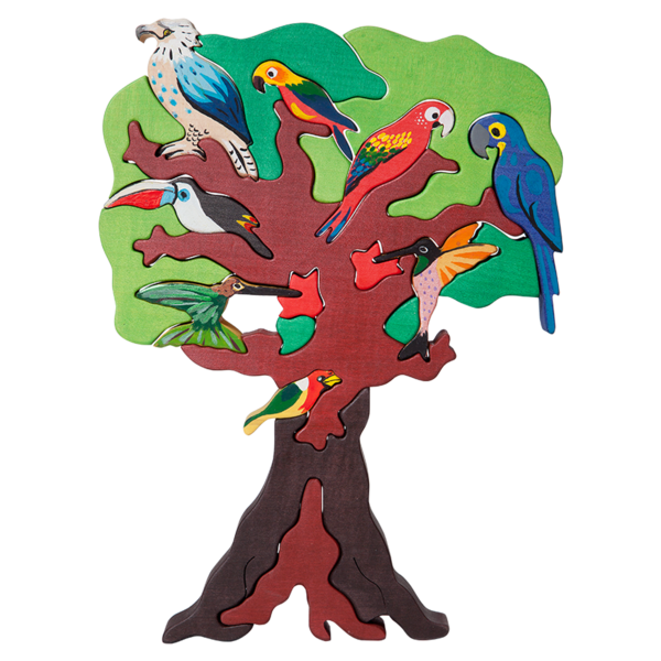 Bird on a tree clipart graphic royalty free download South American Bird Tree Puzzle graphic royalty free download
