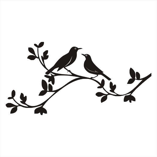 Bird on branch silhouette clipart free clip transparent love birds clip art free | Birds On A Branch Silhouette | www.imgkid ... clip transparent