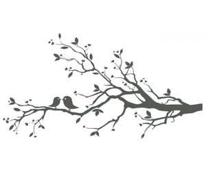 Bird on branch silhouette clipart free clip freeuse download Love Birds On Branch X | Free Images at Clker.com - vector clip art ... clip freeuse download