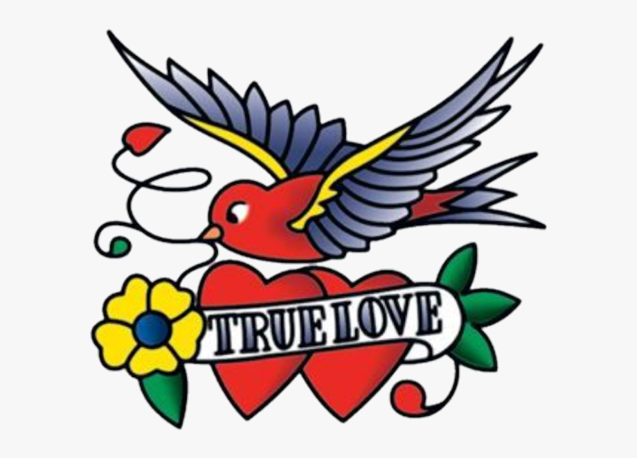 tattoo #swallow #hearts #truelove #love #words #sayings - True Love ... clip free download