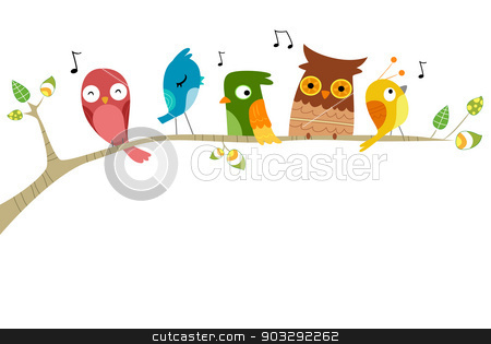 Birds singing clipart vector library stock Birds Singing stock vector vector library stock
