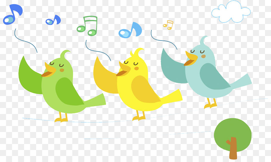 Birds singing clipart png royalty free download Birds Singing Png & Free Birds Singing.png Transparent Images #15949 ... png royalty free download