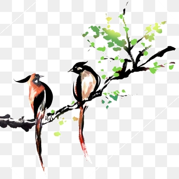 Bird sitting on a branch clipart jpg transparent library Free Download | Two Birds Sitting On A Branch PNG Images, branch ... jpg transparent library