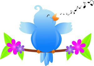 Birds singing clipart jpg library stock Bluebird of Happiness Singing a Song | Bluebird of Happiness ... jpg library stock