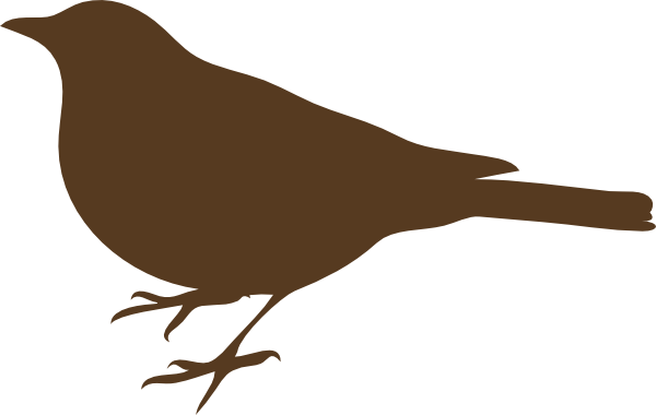 Brown Song Bird Clip Art | Clipart Panda - Free Clipart Images banner black and white library