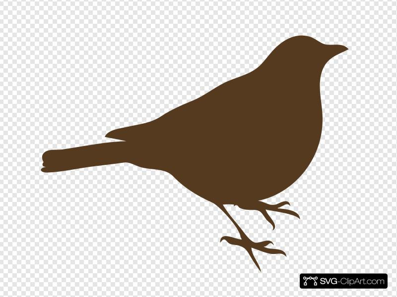 Brown Song Bird Clip art, Icon and SVG - SVG Clipart graphic royalty free stock