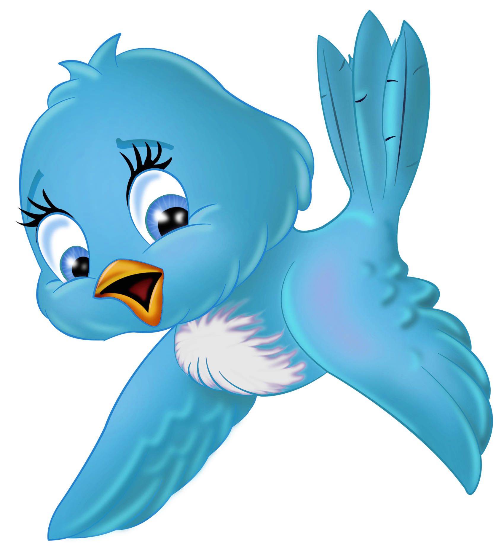Bird with flower clipart graphic free stock Large Blue Bird PNG Cartoon Clipart | Gallery Yopriceville - High ... graphic free stock