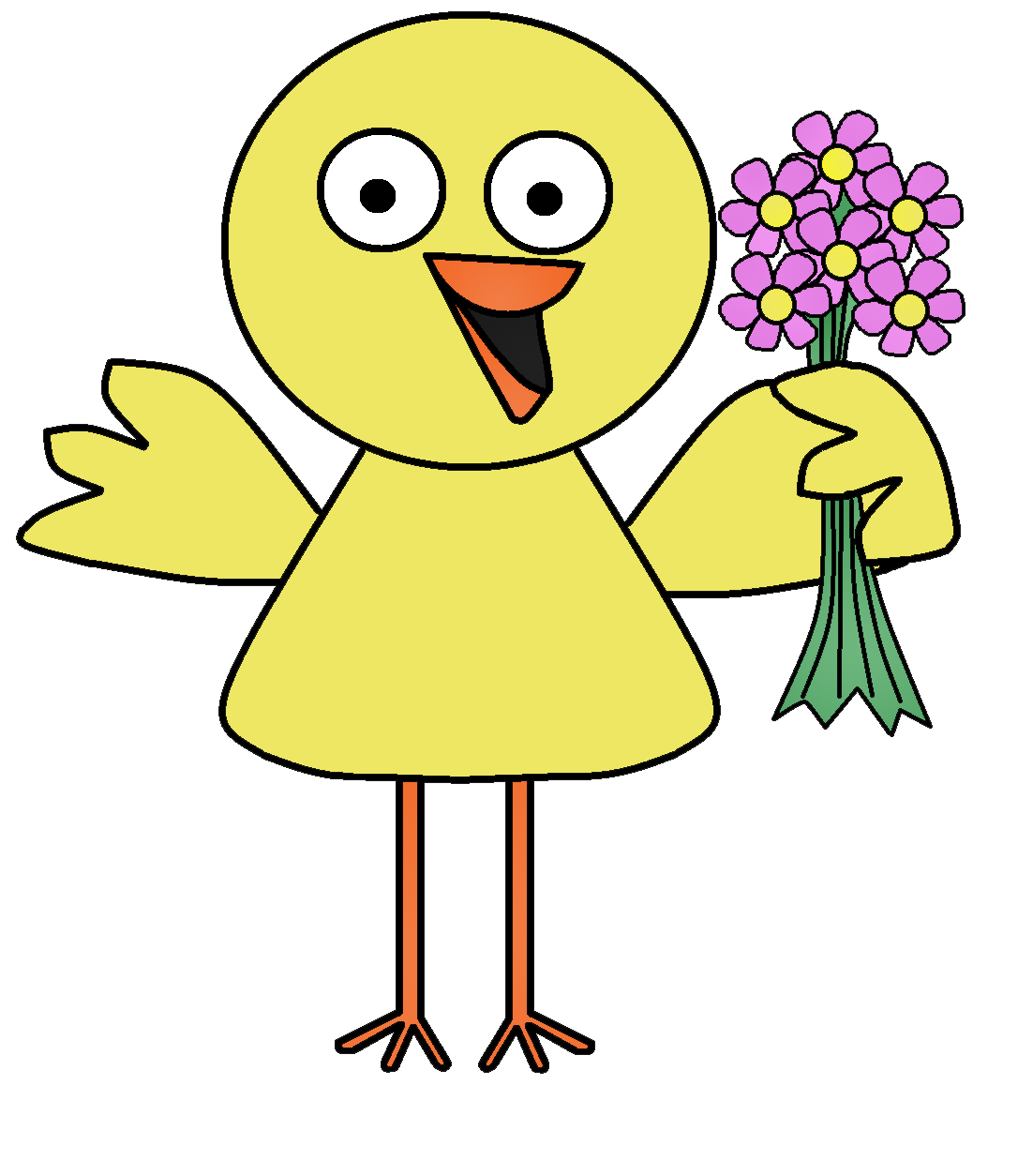 Bird with flower clipart vector download Graphics by Ruth - Spring Birds vector download