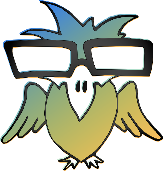Bird with glasses clipart