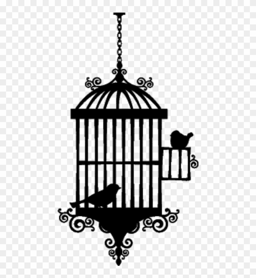Birdcage silhouette clipart black and white birdcage #silhouette - Bird Cage Silhouette Png, Transparent Png ... black and white