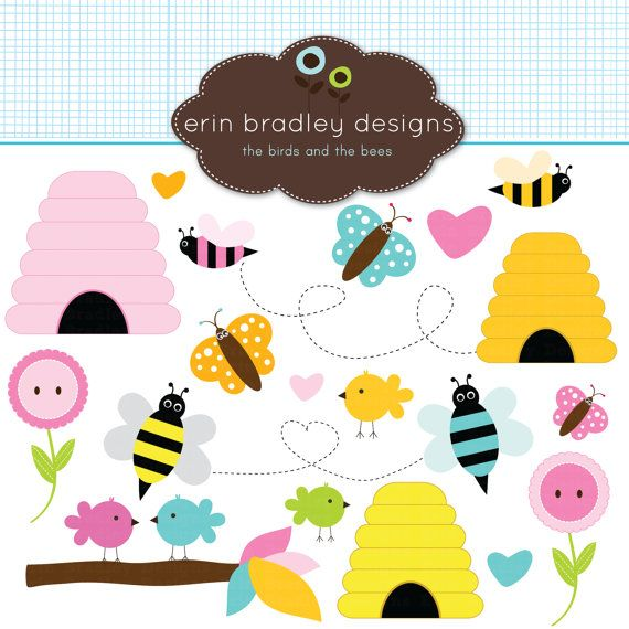Birds Bees Clipart Clip Art for Personal & Commercial Use ... svg freeuse library