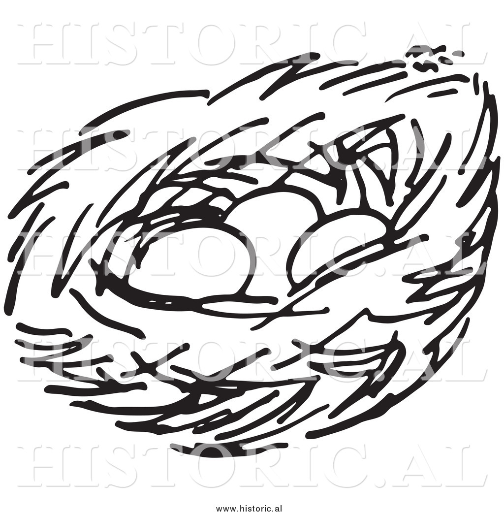 Bird Nest Clipart Black And White | Free download best Bird Nest ... clipart freeuse