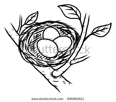 Bird nest clipart black and white 7 » Clipart Station jpg free