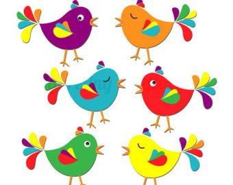 Birds clipart rainbow
