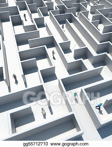 Birds eye view clipart stairs vector royalty free download Stock Illustration - Maze to success. Clipart Drawing gg55712710 ... vector royalty free download