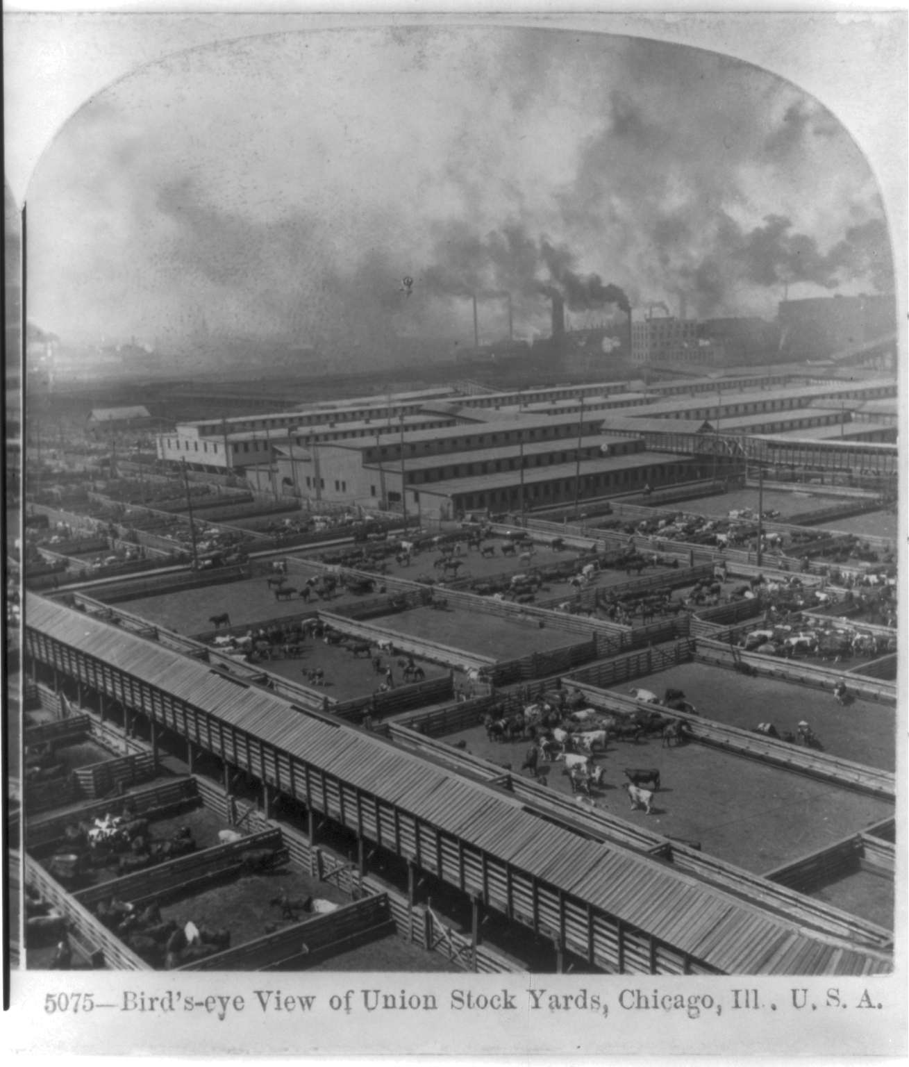 Birds eye view us east coast clipart picture free Birds-eye View Of Union Stock Yards, Chicago, Ill., U.s.a. | Free ... picture free