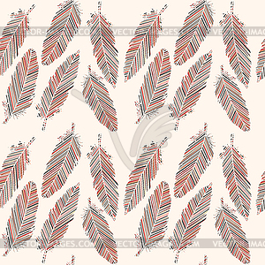 Birds of a feather clipart image library library Birds feathers with colored lines seamless pattern - vector clipart image library library