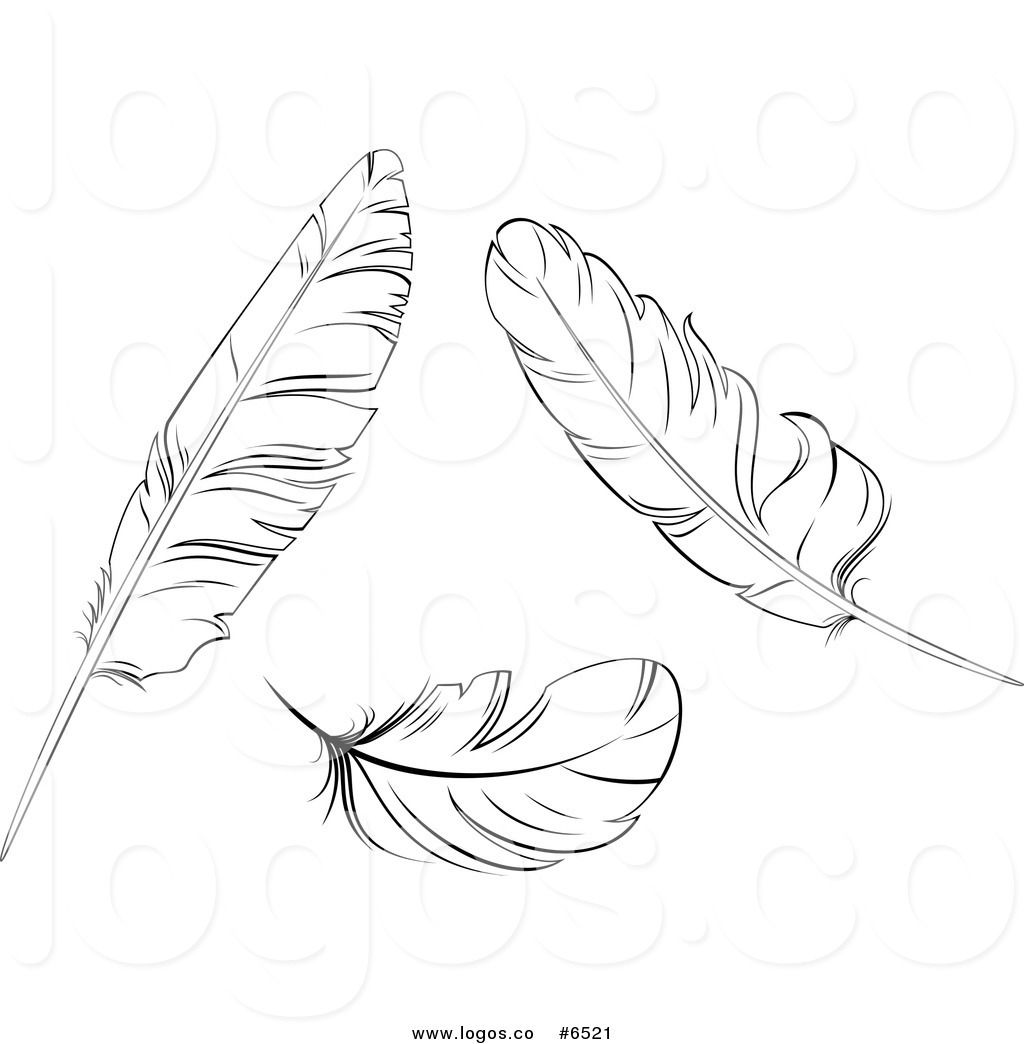 Feather clipart black and white free vector transparent download Royalty Free Clip Art Vector Logos of Black and White Bird ... vector transparent download