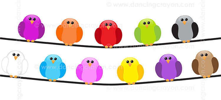 Birds on a wire clipart image royalty free library Bird Clip Art: Birds on a Wire image royalty free library