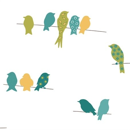 Birds on a wire clipart black and white library Birds on a wire clipart 4 » Clipart Portal black and white library