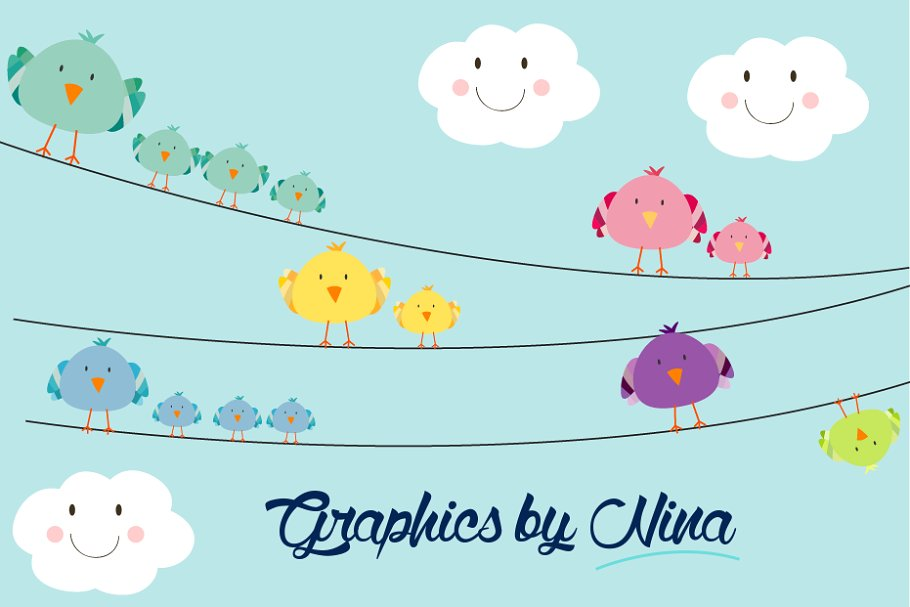 Birds on a wire clipart png stock Birds on Wires Clipart png stock
