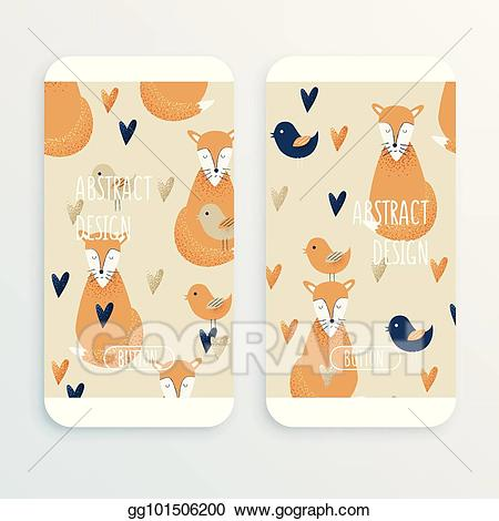 Birds on cell phone clipart png freeuse library Vector Clipart - Fox concept, vector design. Vector Illustration ... png freeuse library