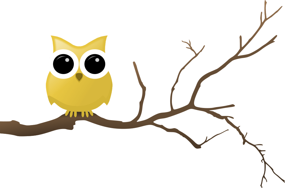 Tree with owl clipart clipart free Yellow Owl on Tree Branch - Rooweb Clipart clipart free