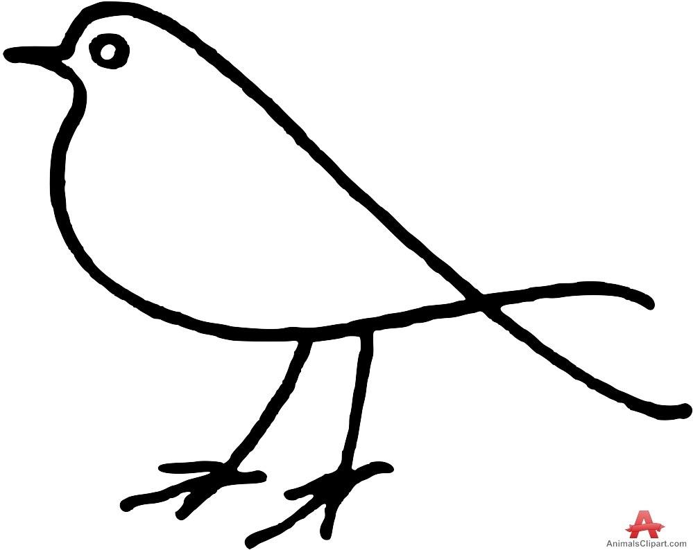 Bird outline clipart 4 » Clipart Portal clip art black and white