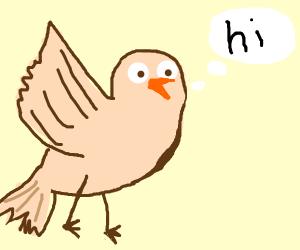 Birds saying hello clipart graphic free stock Halo - Drawception graphic free stock