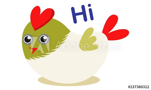 Birds saying hello clipart png Vector cartoon illustration of cute bird saying hi. Isolated on ... png