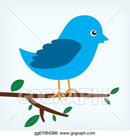 Birds sitting on tree clipart graphic free download Drawing - Blue bird sitting on a tree branch . Clipart Drawing ... graphic free download