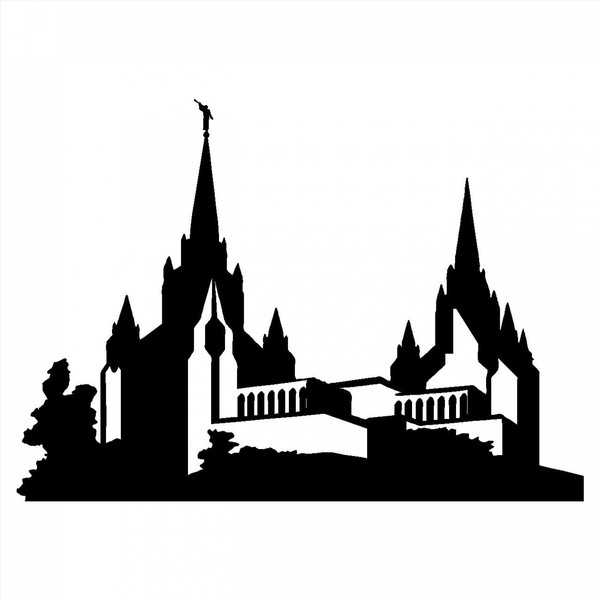Free Salt Lake Temple Silhouette, Download Free Clip Art, Free Clip ... clip stock