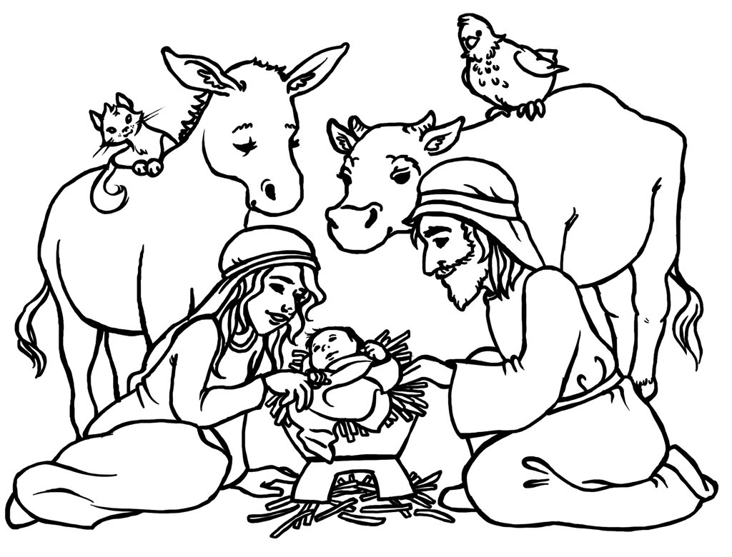 Black and white clipart jesus and the pigs svg free stock Nativity black and white lds jesus manger clipart black and white ... svg free stock