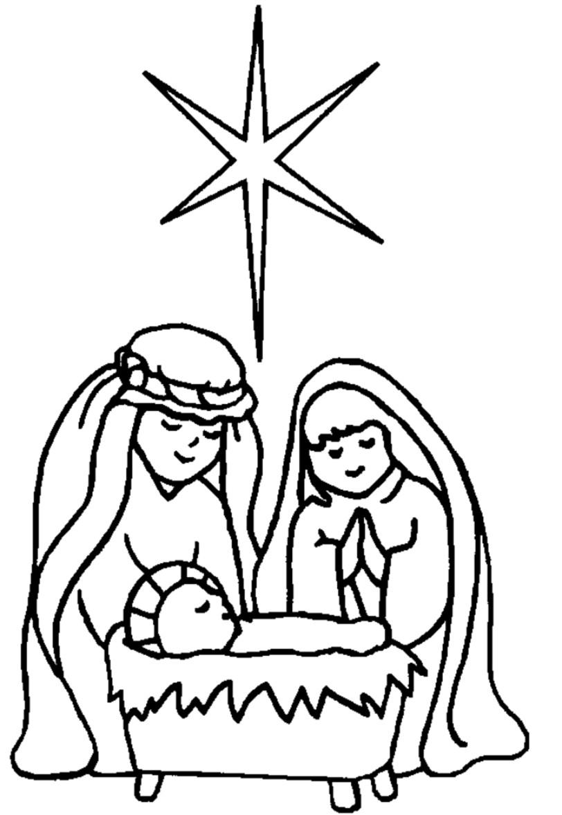 Free nativity clipart black and white clip black and white Nativity black and white jesus manger clipart black and white ... clip black and white