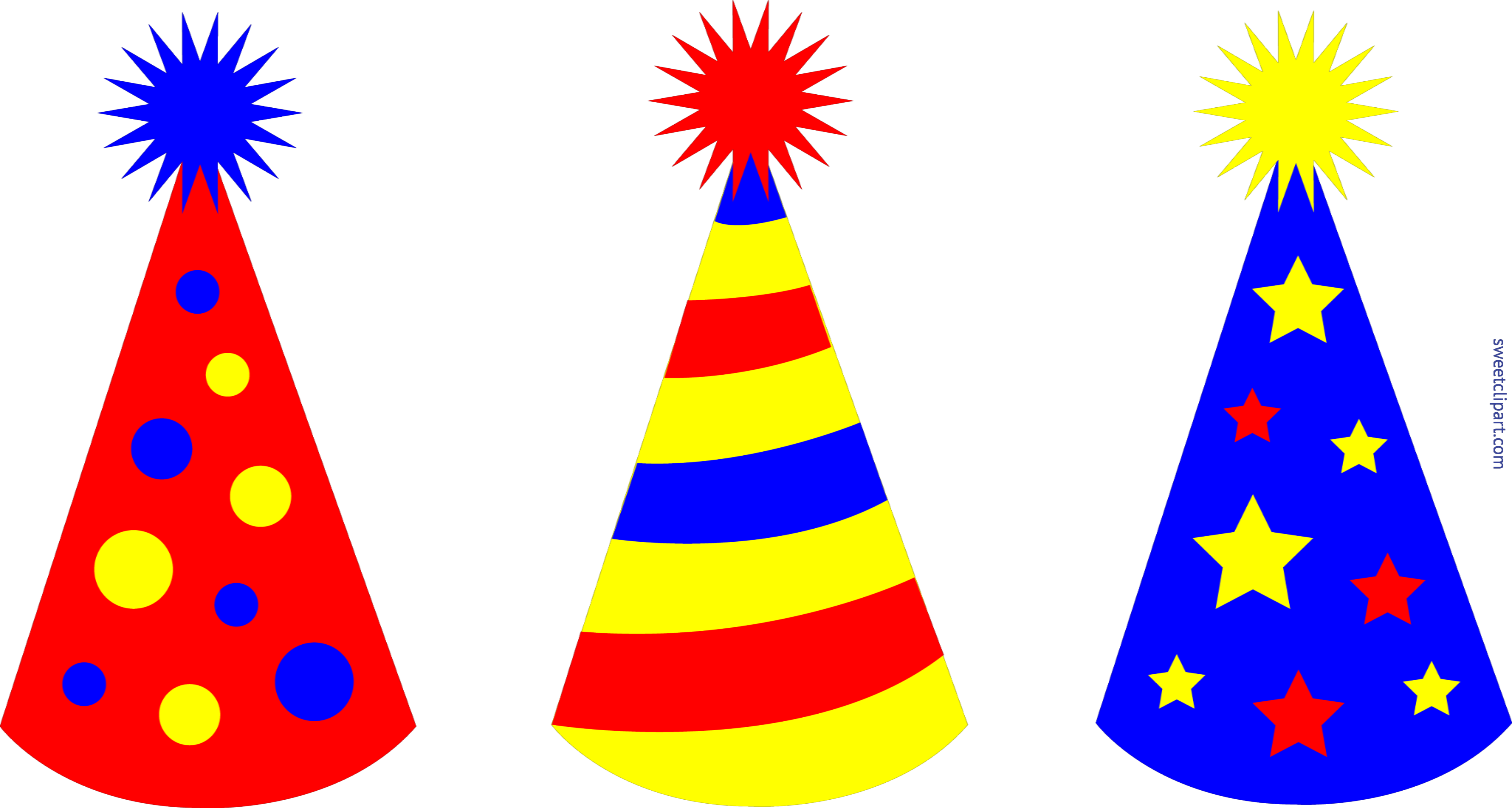 Birthday 2 with boy crown clipart image free stock Birthday Party Hats Set 2 Clip Art - Sweet Clip Art image free stock