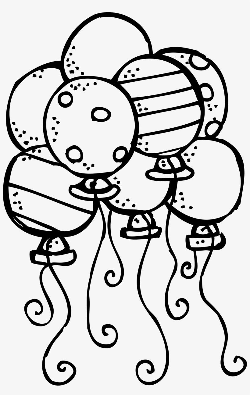 Birthday balloons clipart black white jpg freeuse library Balloons Clipart Black And White - Birthday Balloons Clip Art Black ... jpg freeuse library